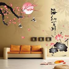 online get cheap lotus wall sticker aliexpress com alibaba group new arrival plum blossom lotus flowers removable wall stickers art mural decals home china