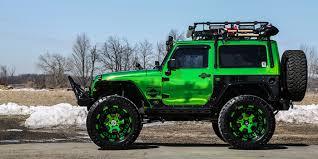 jeep wrangler jacked up lime chrome jeep wrangler jk