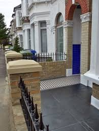 garden wall with railings for small victorian house bricklaying