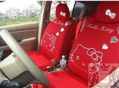 10pcs rose red universal kitty car seat covers front rear