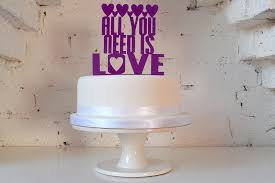all you need is cake topper you need is wedding cake topper