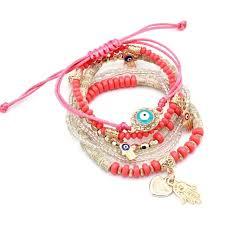 eye charm bracelet images 6 piece bohemian evil eye charm bracelets trend sanctuary jpg