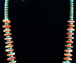 turquoise necklace earring set images Item 511h lg heavy santo domingo turquoise spiny oyster disc JPG