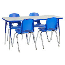 48 by 48 table 12 chairs 24 x 48 rectangle table set ecr4kids schoolsin