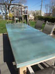 Stain Concrete Patio by Acid Stained Concrete Table Love The Color Would Make A Great