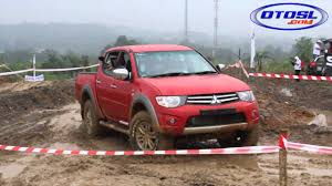 mitsubishi triton offroad test ride mitsubishi strada triton exceed hi power youtube