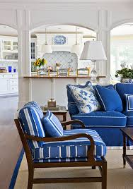 Blue Sofa Living Room Design by Beautiful Rooms In Blue And White Traditional Home