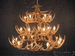 Deer Antler Light Fixtures Whitetail Deer 42 Antler Chandelier Cast Horn Designs