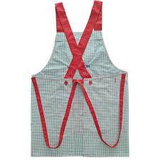 tablier de cuisine hello bodecin plaid hello japanese kitchen apron