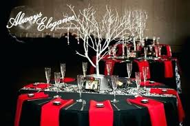 red and white table decorations for a wedding red and black table decor runner wadaiko yamato com