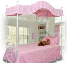 Pink Canopy Bed Appealing Pink Canopy Bed With Photo Of Pink Canopy Bed With