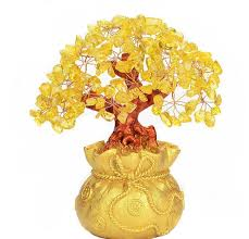 2017 9 inch feng shui money tree natural yellow crystal aventurine