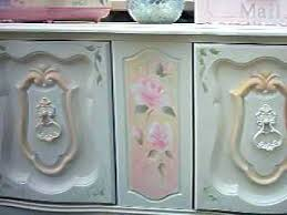 how to paint shabby chic roses furniture youtube