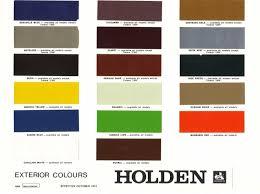 1974 1980 holden and torana paint charts paint u0026 panel gmh torana