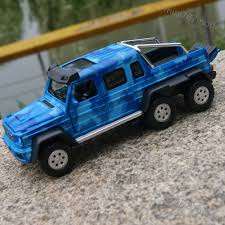 car toy blue benz brabus g63 amg 6x6 1 32 model cars alloy diecast sound u0026light