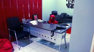 decoration Desk Chair Spider Man Furniture Office Table Marvel The