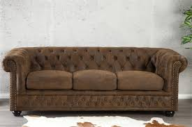 chesterfield canapé canapé chesterfield 3 places marron design
