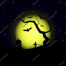 halloween design background halloween design background with spooky graveyard tree