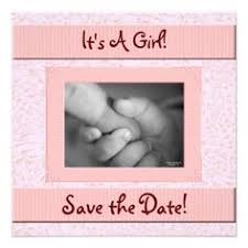 save the date baby shower baby shower save the date pink and brown girl personalized invite