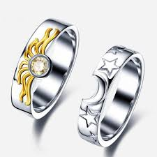 925 sterling silver engagement rings matching sun and moon 925 sterling silver engagement ring for