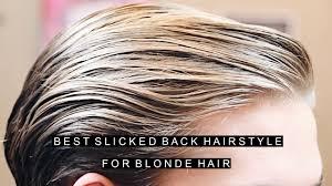 best blonde for men slicked back hairstyles 2017 medium