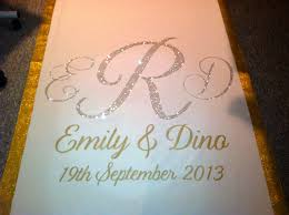 wedding runner sparkly aisle runner nothing wrong with walking on glitter