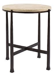round metal side table bernhardt