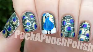 packapunchpolish peacock nails