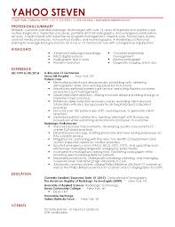 Ct Tech Resume Professional Radiologist Templates To Showcase Your Talent