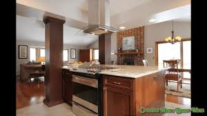 stove in island kitchens kitchen island with slide in stove youtube