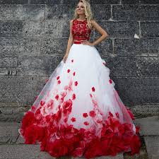 Red Wedding Dresses Red And Black Corset Wedding Dress Lovely Sweetheart Red Wedding