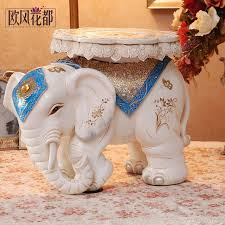 elephant shoes stool home furnishing lucky like resin crafts
