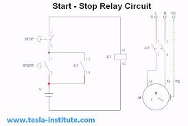start stop motor relay circuit simulation video