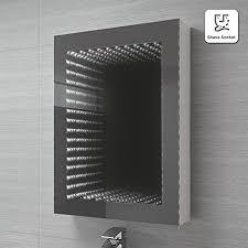 bathroom infinity mirror ibathuk 500 x 650 mm illuminated led infinity bathroom mirror