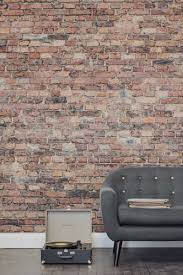 if you u0027re yearning after a brick wall this brick effect wallpaper