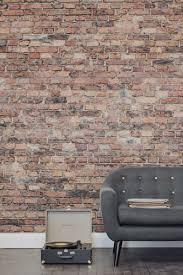Stone Wall Mural Black And Red Aged Brick Wall Mural Textured Wallpaper Bricks