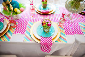 Easter Rabbit Table Decorations by A Bright And Colorful Easter Party Anders Ruff Custom Designs Llc