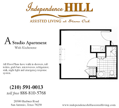 a studio apartment floor plans independence hill assisted living