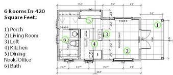 Backyard Apartment Floor Plans The 420 Square Foot Backyard Cottage Home Design Garden
