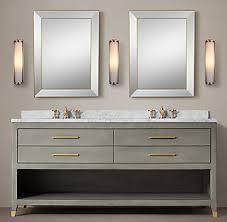 Restoration Hardware Vanity Lights All Vanities U0026 Sinks Rh