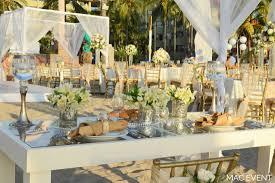 wooden crystal cocktail table puerto vallarta party rentals