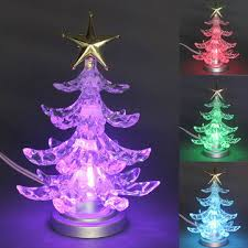 christmas tree shaped lights christmas tree shape color changing usb led night light l