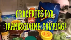 grocery haul cing for thanksgiving