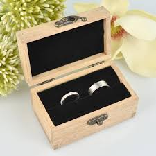 Personalized Wooden Boxes Engraved Wooden Ring Box With Velvet Lining Personalized Favors