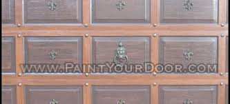 Faux Paint Garage Door - door diva faux wood grain garage door painting wrought iron