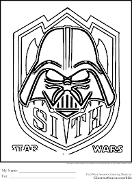 star wars coloring page among others may the force be with