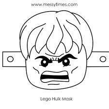 hulk mask coloring coloring