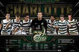 charlotte 49ers men u0027s soccer poster our work pinterest