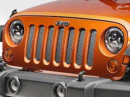 Rugged Ridge Grille Inserts Jeep Jk Rugged Ridge Wrangler Perforated Stainless Grille Insert In Satin