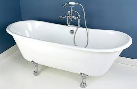 kingston brass 67 aqua cast iron slipper tub all in one